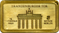 "Goldbarren  ""Brandenburger Tor"""