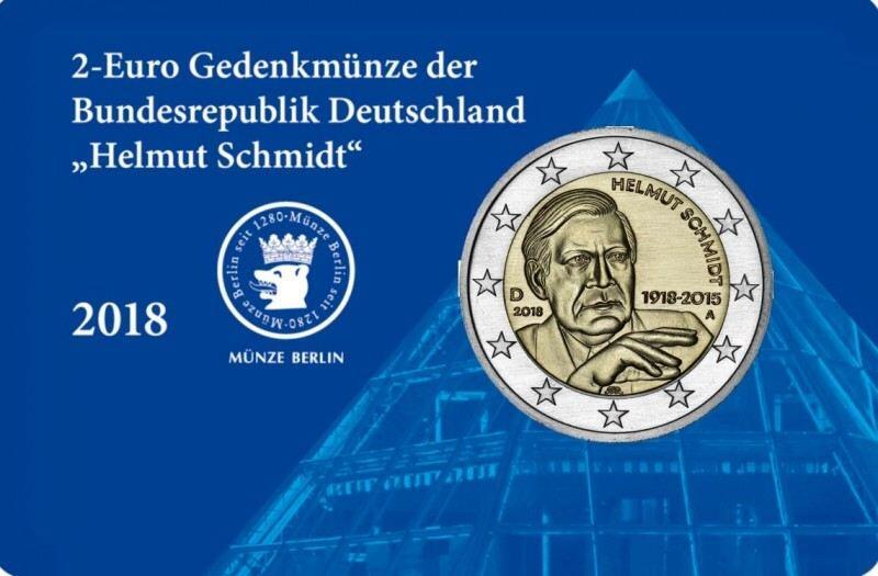 2 Euro Coin Card Helmut Schmidt Staatliche Münze Berlin