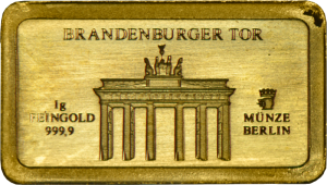 Goldbarren 1 Gramm Brandenburger Tor