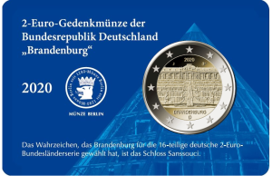 2-Euro-Coin-Card Brandenburg