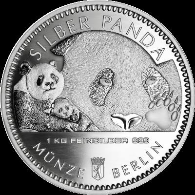 1 Kilo Silber Panda 2018 Staatliche Münze Berlin