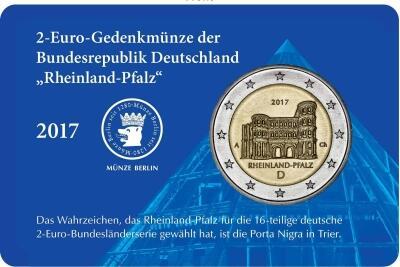 2 Euro Coin Card Rheinland Pfalz Staatliche Münze Berlin
