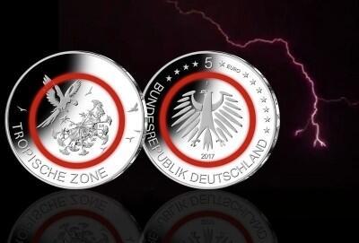 5 Euro Tropische Zone In Sg 2017 Prägestätte F
