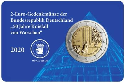 "2-Euro-Coin-Card ""50 Jah­re Knie­fall von War­schau"""