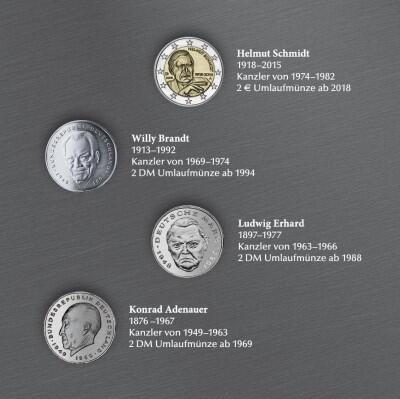 Deutsche Kanzler Münzedition Der Münze Berlin