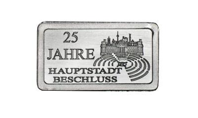Silberbarren 25 Jahre Hauptstadtbeschluss Staatliche Münze Berlin