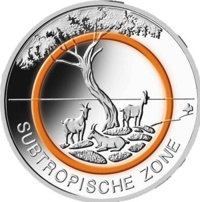 5 Euro Subtropische Zone In Sg 2018 Prägestätte D