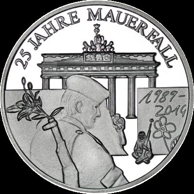 25 Jahre Mauerfall Staatliche Münze Berlin