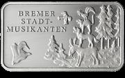 Märchen - Silberbarren Bremer Stadtmusikanten